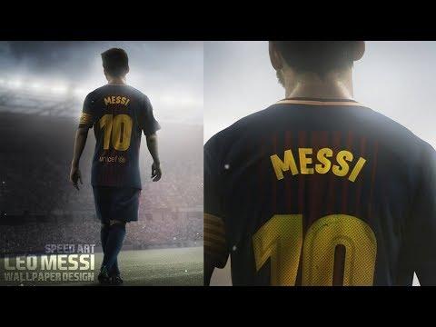 Leo Messi-  Football Poster Design | Speed Art | GraphicsD | Barcelona 🇦🇷🇪🇸 (#Photoshop)