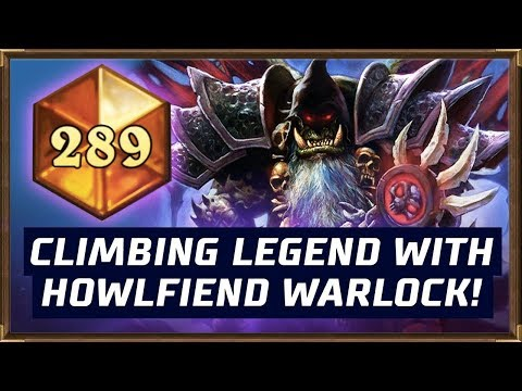 Climbing Legend With Howlfiend Warlock! | The Boomsday Project | Hearthstone