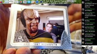 2016 Star Trek 50th Anny Box Break Bowman Inception Andrew 1 26 17