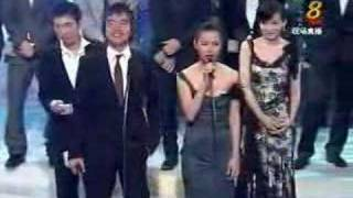 Attention whore Zoe Tay's antics at Star Awards 2005