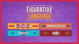 Alliteration, Onomatopoeia, Imagery, And Irony   Figurative Language Lesson