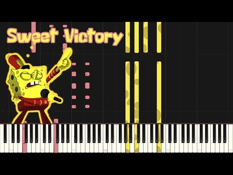 Download Sweet Victory - SpongeBob SquarePants [Piano Tutorial] (Synthesia) // Mr.Meeseeks Piano Mp4 HD Video and MP3
