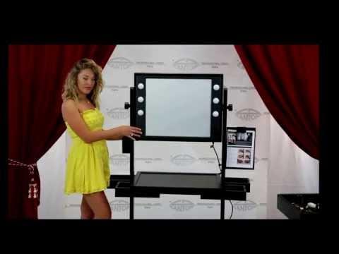 video L400 TABLE DE MAQUILLAGE PROFESSIONNEL SUR ROUES