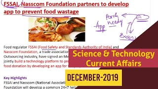 Science & Technology Current Affairs / December-2019