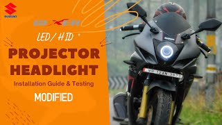 Gixxer SF Modified Projector Headlight | SWaG