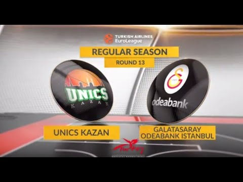 EuroLeague Highlights RS Round 13: Unics Kazan 73-60 Galatasaray Odeabank Istanbul