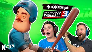 Hello Neighbor Plays SUPER MEGA BASEBALL 3!!! K-CITY GAMING