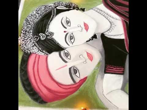 portrait rangoli by shanthi sridharan