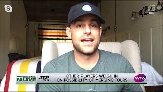 Tennis Channel Live: Roddick's Take on the Proposed ATP-WTA Merger