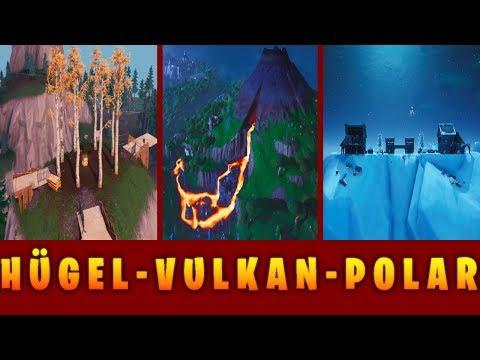 Fortnite: Pola Peak ツ Hügel ツ Vulkan ツ Sturmraser Herausforderung