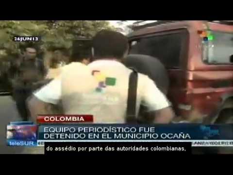 Equipe da teleSUR é presa em Ocaña, Colômbia