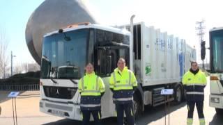 preview picture of video 'El Ayuntamiento de Leganés presenta la nueva flota de vehículos de limpieza viaria'