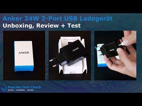 Anker 24W 2 Port USB Ladegerät Netzteil | Unboxing + Review + Test