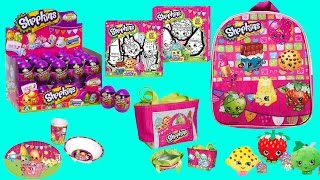 New Shopkins Backpack Purse Art Kit Games Stickers Blind Bags Eggs Puzzle Toys