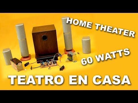 Prueba de sonido del teatro en casa o home theater