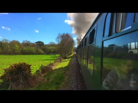 34070 'Manston' storms away from Frome Bridge during the Swa…