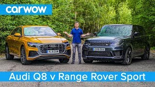 Audi Q8 vs Range Rover Sport 2019 - see which SUV is the best | carwow