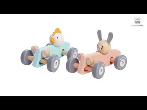 Chicken Racing Car & Bunny Racing Car