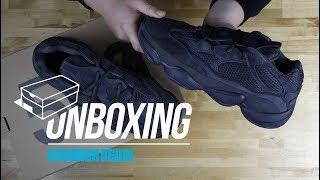 "Unboxing The adidas YEEZY 500 ""Utility Black"""