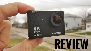AKASO EK7000 4K Action Camera REVIEW & Sample Footage
