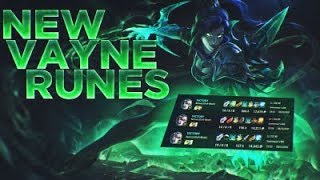 Season 8 Runes and Build Vayne first concept