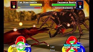 [アーケード]甲虫王者ムシキング-双SPアタックヒラタクワガタVS炎のバトル[2006セカンドMushiking]