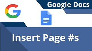 Insert Page Numbers in Google Docs