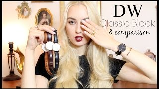 Daniel Wellington NEW Classic Black watch review + comparison w/ other DW watches!