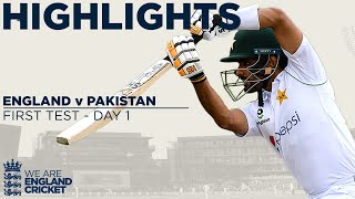 Watch match highlights of Day 1 from the 1st Test between England and Pakistan at Old Trafford.  Find out more at ecb.co.uk