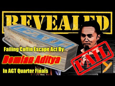 Revealed: Demian Aditya (Failed Coffin Trick) in AGT 2017 Quarter Finals (видео)