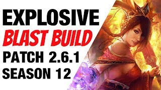 Patch 2.6.1 Wizard Explosive Blast Build Season 12 Diablo 3