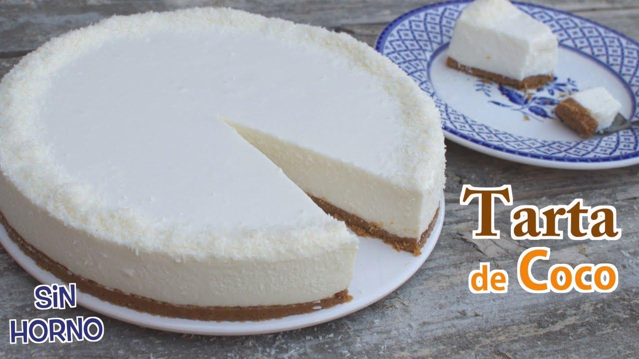 Tarta de Coco fácil sin Horno | Receta con y sin Thermomix |  Cómo hacer Receta Tarta Fría de Coco