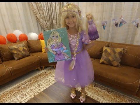 Elife yeni kostüm RAPUNZEL , elifin rapunzel hayranlığı top yaptı, eğlenceli çocuk videosu