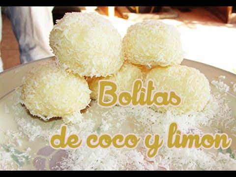 Saludables ► Bolitas de COCO y LIMÓN ♥ FACIL