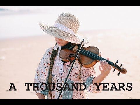 A THOUSAND YEARS - Christina Perri - Violin Cover by KAROLINA PROTSENKO