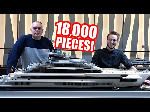 Huge LEGO Luxury Yacht with Interior – 2 METERS LONG!
