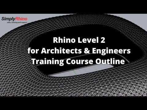 Simply Rhino   Rhino for Architecture Training Class Outline ...