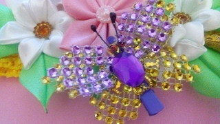 Бабочка из стразовой шины #  Butterfly of strass tires