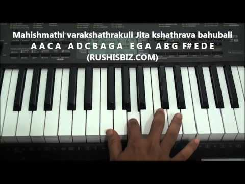 Bahubali Theme Music PIANO TUTORIALS | 917013658813 - PDF NOTES/BOOK - WHATS APP US
