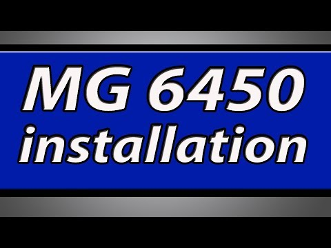 Canon Pixma MG6450 printer installation