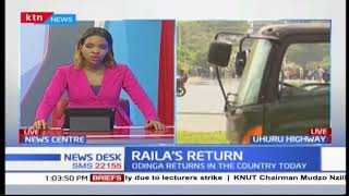 Anti-riot police barricade Nyayo round about blocking off NASA supporters from entering CBD