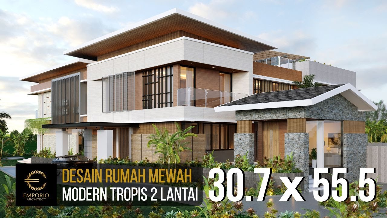 Video 3D Desain Rumah Modern 2 Lantai Ibu Tina di Majalengka, Jawa Barat