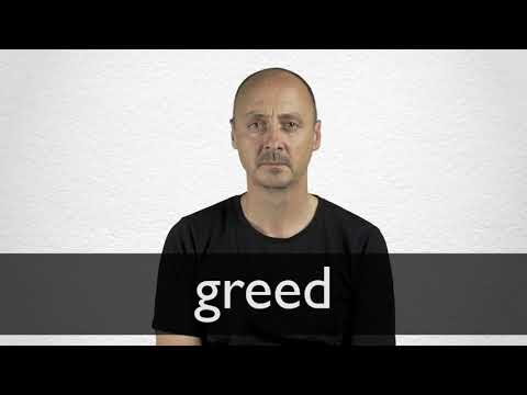 Greed Synonyms Collins English Thesaurus