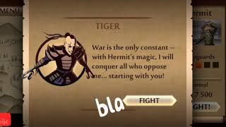 Shadow Fight 2 Gameplay | Shadow Vs Tiger | Double Sword Weapon HD