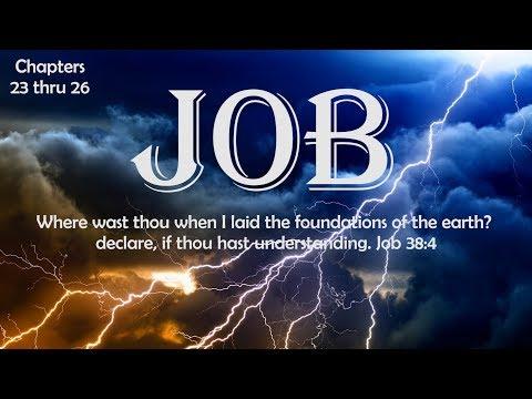 Job chapters 23 thru 26 Bible Study