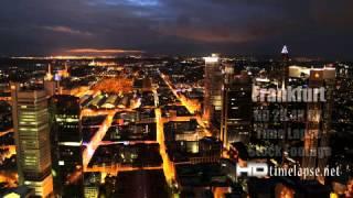 Frankfurt, Germany - UHD Ultra HD 2K 4K Video Time Lapse Stock Footage Royalty-Free