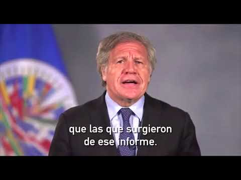 Mensaje del Secretario General de la OEA sobre situación de Nicaragua