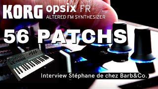 Korg OPSIX-FR Synthé FM - Video