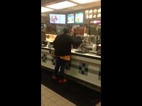 Black lady going off on cashier in McDonald's