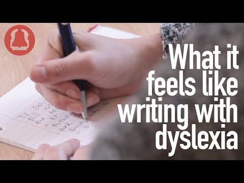 Screenshot of video: What it feels like to take notes when you have Dyslexia?